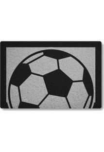 Tapete Capacho Bola De Futebol - Prata