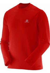 Camiseta Manga Longa Salomon Masculina Comet Vermelho Gg