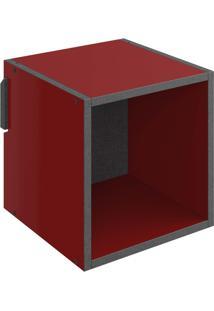 Nicho 1002 Mov 29,5 X 29,5 X 29,5 Vermelho - Be Mobiliário