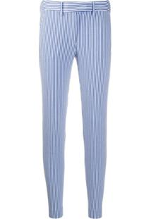 Incotex Striped Slim-Fit Trousers - Azul
