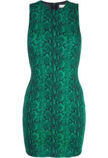 Alice+Olivia Vestido Com Estampa Pele De Cobra - Verde