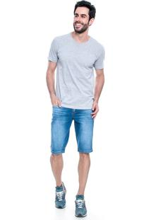 Bermuda Jeans Lemier Collection Basic Azul