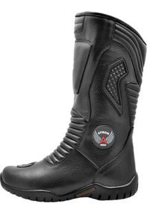 Coturno Motociclismo Atron Shoes Cano Alto - Masculino