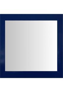 Espelho Moldura Madeira Lisa Raso 16296 Azul Art Shop