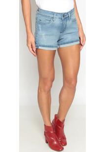 Short Jeans Com PuãDos - Azulcalvin Klein