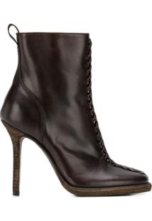 Haider Ackermann Zipped Ankle Boots - Marrom