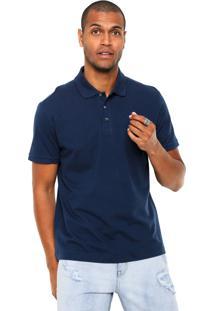 Camisa Polo John John Simple Basic Azul-Marinho