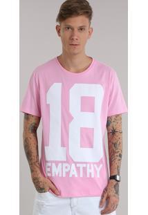 "Camiseta ""18 Empathy"" Rosa Claro"