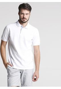 Camisa Polo Piquet Off White