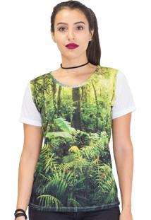 Camiseta Mary Lemon Floresta Verde