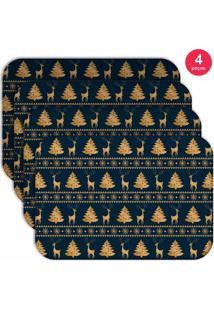 Jogo Americano Love Decor Wevans Moderno Natal Kit Com 4 Pçs