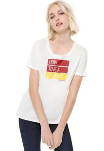 Blusa Calvin Klein Jeans Champion Off-White