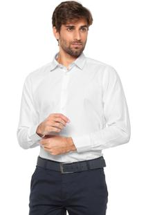 Camisa Aleatory Slim Padronagem Branca