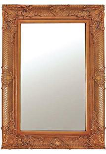 Espelho Em Moldura Ouro 115 X 85 Cm Dourado