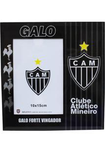 Porta Retrato Minas De Presentes 1 Foto 15X10Cm Vidro - Atlético Mineiro Preto