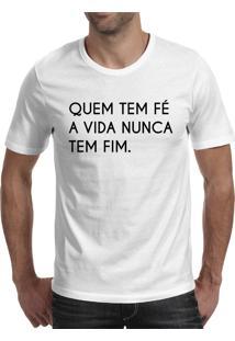 Camiseta Hunter Quem Tem Fé Branca