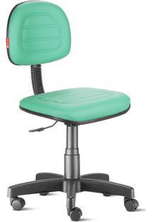 Cadeira Secretária Costura Giratória Courvin Verde Água