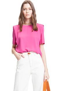 Blusa Envy Prega Pink - Rosa - Feminino - Poliã©Ster - Dafiti