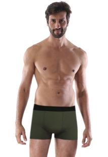 Cueca Boxer Microfibra Lisa - Verde