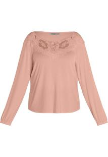 Blusa Viscotorcion Feminina Secret Glam Laranja