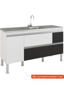Balcão De Cozinha Prisma 2 Pt 3 Gv Branco E Preto