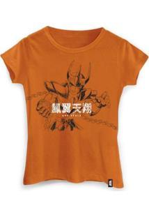 Camiseta Feminina Golpe Ikki - Feminino-Laranja