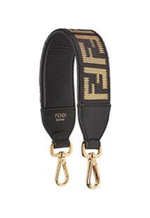 Fendi Mini Strap You Chainmail-Embellished Bag Strap - Preto