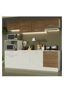 Cozinha Completa Madesa Onix 240003 Com Armário E Balcáo - Branco/Rustic 096E Branco