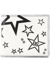 Dolce & Gabbana Carteira Com Estampa De Estrelas - Branco