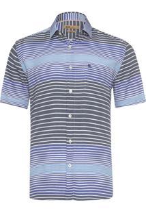 Camisa Masculina Mc Leon - Azul