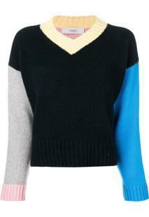Pringle Of Scotland Suéter Color Block De Cashmere - Azul