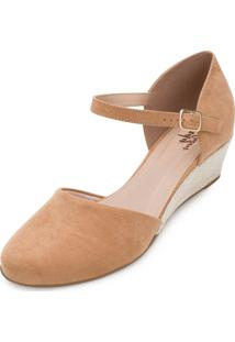 Sandália Espadrille Lady Queen Am20-13008 Caramelo