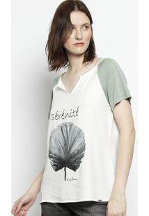 Blusa Com Termocolantes - Branca & Verdescalon