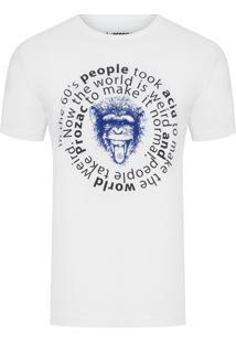 Camiseta Masculina Monkey - Off White