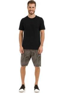 Camiseta Lisa Rovitex Premium - Masculino-Preto