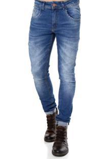 Calça Jeans Zune Masculina - Masculino-Azul
