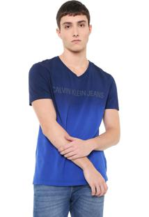 e32fc7edee4bd5 Camiseta Calvin Klein Jeans Degradê Azul