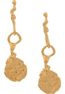 Alighieri Par Brincos The Talisman - Dourado
