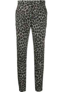 Versace Calça De Alfaiataria Com Estampa Leopardo - Branco