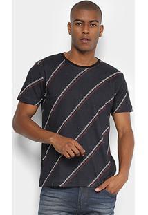 Camiseta Forum Estampada Masculina - Masculino-Preto