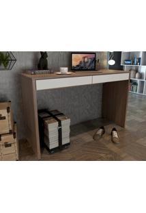 Mesa Para Escritorio Linea Amendoa/Branco - Fitmobel