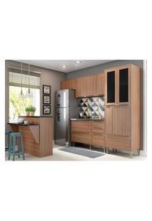 Cozinha Completa Multimóveis Com 5 Peças Calábria 5463 Nogueira
