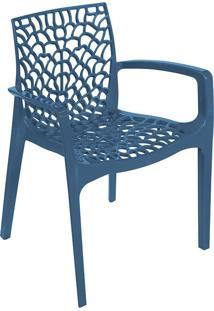 Cadeira Gruvyer Com Braço S6626 – Or Design. - Azul