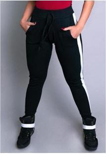 Calça Ribana Moletom Cintura Alta Mvb Modas Feminina - Feminino