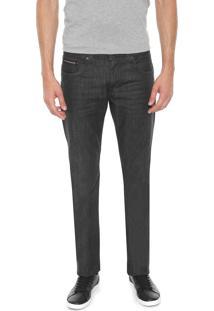 Calça Jeans Tommy Hilfiger Slim Denton Preta