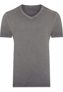 Camiseta Masculina Logo Ombro - Cinza