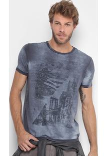 Camiseta Calvin Klein Estampada Gola Careca Masculina - Masculino