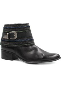Bota Cano Curto Zariff Shoes Ankle Boot Fivela