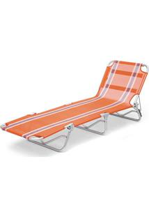 Cadeira Espreguiçadeiratextilene Aluminio Listrada Br/Az Listrado Belfix