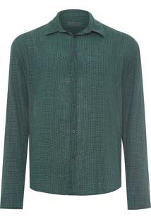 Camisa Masculina Xadrez Fine - Verde